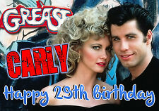 Personalised GREASE Birthday Greeting Card A5