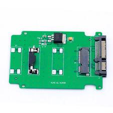 """5cm mSATA SSD Mini PCI-E To 2.5"""" 7+15 22pin SATA Adapter Card &PCB 9.8X6.5CM HW"""