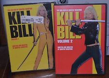 KILL BILL volume 1 and 2 DVD  Lot Of 2 Quentin Tarantino Films ONE NEW SEALED