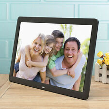 "15"" TFT LCD LED Digital Photo Picture Frame MP3 MP4 Movie + Remote Control Black"