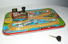Tintoy, Blechspielzeug, TM, kleine, mechanische Eisenbahn, Made in India, 1970er