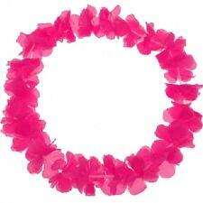 100 Blumenketten Blumenkette Hawaiikette Hawaii Ketten Schrill Pink Blumen-Kette