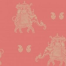Kismet Soul Luxury Exotic Gold Elephant on Coral Background Wallpaper SALE ITEM