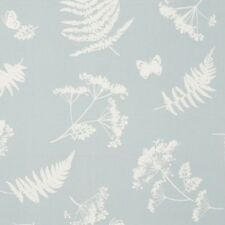 Clarke and Clarke Moorland Duckegg Leaf Design Curtain Upholstery Craft Fabric