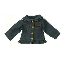 Denim Jacket with Ruffle Fits 18 inch American Girl Dolls