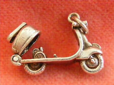 NUVO VINTAGE STERLING SILVER CHARM SCOOTER OPENS