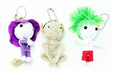 Set of 3~ String Voodoo Doll Keychain Key Chain Halloween Protection Gift USA