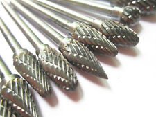 10x Tungsten Steel Solid Carbide Burrs Rotary Files Diamond Grinding Die Grinder