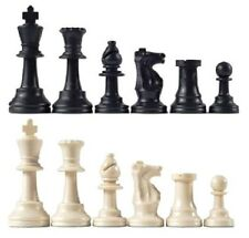 Staunton Triple Weighted Chess Pieces – 17 Black Pieces & 17 White Pieces