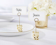6 Love Gold Place Card Holders Wedding Party Favors Set Q36423