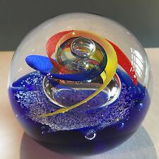 Caithness Colorful Hydrofoil Limited Edition Paperweight New in Box with COA