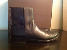 LOUIS VUITTON  Logo Boots  Men's 9 Black Leather Made in Italy Retail $895.00