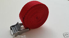 2 Buckled Straps 25mm Cam Buckle 1.5 meters Long Heavy Duty Load Securing Red