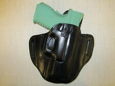 XDM 3.8, COMPACT  formed leather pancake owb leather belt slide holster