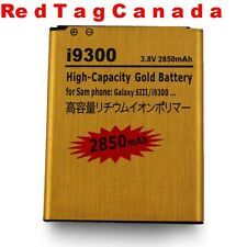 2850mAh Capacity Gold Battery for Samsung Galaxy S 3 III i535 L710 T999 GT-i9300