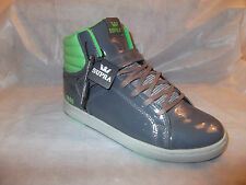 Supra Suprano High Mens UK Size 10 Grey Trainers - Brand New Limited Edition