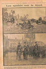 Camp Cavalerie Spahis Belgique Bataille de l'Yser  Troupe Coloniale  WWI 1915