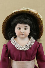 "16"" antique bisque head German Armand Marseille girl Doll"