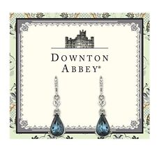 The Downton Abbey Collection Sapphire Blue Pear Drop Earrings 17548 Free Shippin