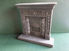 1/12th Scale. Dolls House. Grey/Silver Distressed Fireplace (Resin).