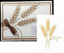 Impression Obsession dies - WHEAT metal die cut DIE085X All Occasion,food,leaves