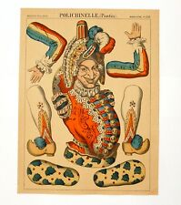 IMAGE D'EPINAL PANTIN POLICHINELLE THEATRE 1340 PELLERIN ANCIENNE OLD DECOUPAGE