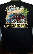 VINTAGE HARLEY DAVIDSON 49TH ANNUAL SPRING RALLY T-SHIRT NC Dealer's Asso XXL 89