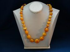 VINTAGE NATURAL BALTIC AMBER BEADS REAL GENUINE AMBER BEADS 68 grams 老琥珀 .No.TR