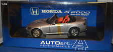 Honda S2000 American Version LHD AUTOart! 1:18 Scale Diecast Model! Silver! New!