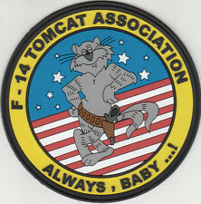 F-14 TOMCAT ASSOCIATION ALWAYS, BABY...! PVC PATCH