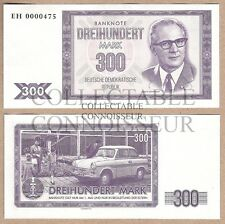 East Germany DDR 300 Mark 2016 UNC SPECIMEN Test Banknote - Trabant Honecker