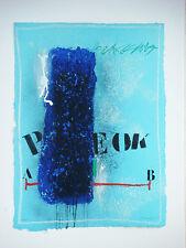 """COIGNARD James """"Perspective Bleue"""" Gravure au carborundum signée et numérotée"""