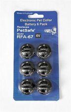 PetSafe Compatible RFA-67 6-Volt Replacement Battery (6-Pack) High Tech Pet NEW