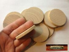"""M00789 MOREZMORE 10 Unfinished 2 3/8"""" Round Base Wooden Plaque Wood Blank A60"""