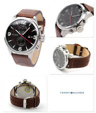 NWT TOMMY HILFIGER Brady Brown Dial Brown Leather Strap Men's Watch 1790892