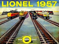 VINTAGE ADVERT TOY LIONEL 1957 NEW SUPER O TRACK CHILDREN POSTER PRINT LV4575