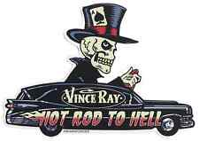 Hot Rod To Hell Hearse Sticker Decal Vince Ray VR65