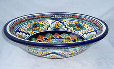 "Small Handpainted Talavera Mexican Vessel 11.5x16 "" Ceramic Sink # 05"