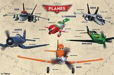 2013 DISNEY PIXAR PLANES GROUP CHART GRID POSTER 22x34 NEW FAST FREE SHIPPING