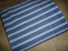 TOMMY HILFIGER CHRISTOPHER FULL FLAT SHEET BLUE RED WHITE STRIPE BOYS