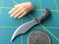 """Fantasy """"Grey Wiz Bowie"""" Knife 1:6 Scale Hand Crafted Miniature Steel By Auret"""