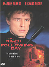 The Night of the Following Day (NEW DVD) Marlon Brando, FREE SHIPPING !!
