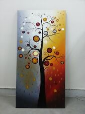 Abstract Hand Painted Canvas Oil Painting Wall Art Home Decor Flower Tree Framed