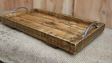 Large Rustic Serving Tray / Wooden Tray Made From Reclaimed Pallet Wood