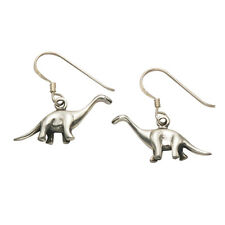 Sterling Silver Brontosaurus Dinosaur Earrings