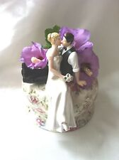 So Much in Love topper for wedding cake bride and groom figurine