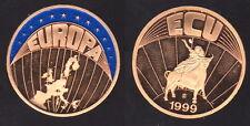 Ecu 1999 Europa - goldfarbene FARB-Münze mit Punze !!!  - 30 mm - 0015