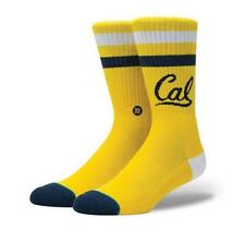NEW STANCE SOCKS CAL BEARS M556D16CAL GLD | GOLD Mens Size Large 9-12