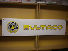 Bultaco Trials workshop  garage banner,Pursang, Sherpa eyc