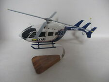 Eurocopter EC-145 Mercy Air Helicopter Wood Model